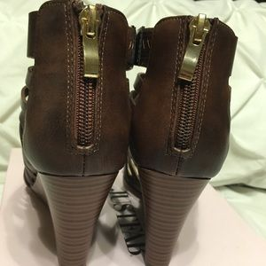 JustFab Shoes - JustFab Brown Kier Wedges Size 6.5